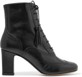 Tabitha Simmons Afton Leather Ankle Boots - Black