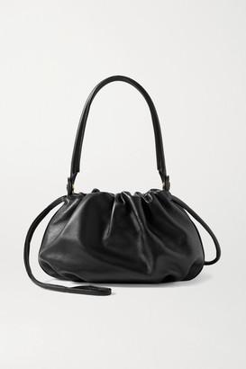 Gu_de Gu de - Bonnie Reversible Gathered Leather And Velvet Tote - Black