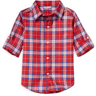 Janie and Jack Little Boy's & Boy's Plaid Tailored Shirt
