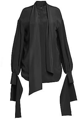 Rokh Women's Draped Detachable Cuff Blouse