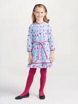 Oscar de la Renta Watercolor Fleur Cotton Tunic Dress
