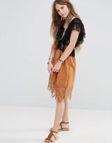 Moon River Crochet Hem Detail Full Skirt
