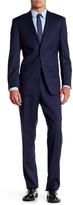 Ike Behar Navy Plaid Two Button Notch Lapel Wool Suit
