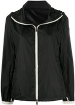 Moncler zip-up hooded jacket