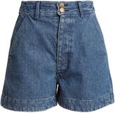 Apiece Apart Cotton-denim shorts