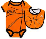 RBX Size 9-12M 2-Piece Basketball Bodysuit and Bib Set in Orange
