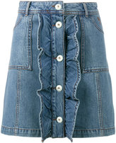 Ganni - mini denim skirt - women - Cotton - 34