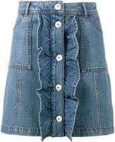Ganni - mini denim skirt - women - Cotton - 36