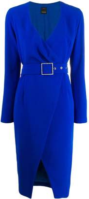 Pinko belted wrap dress