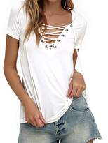 Fashion Story Women Lace Strap Crochet Camisole Sleeveless T-Shirt Spaghetti Vest Tank Tops