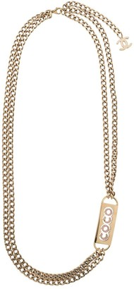 Chanel Pre Owned 2002 Chain Belt Style Necklace