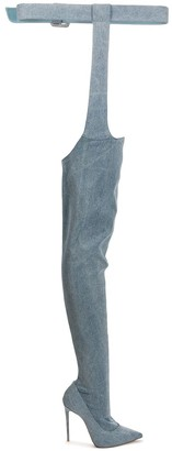 Le Silla Eva denim thigh-high boots