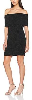 FM London Women's Shimmer Cocktail Plain Sleeveless Dress