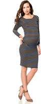 A Pea in the Pod Bcbgmaxazria Striped Maternity Dress