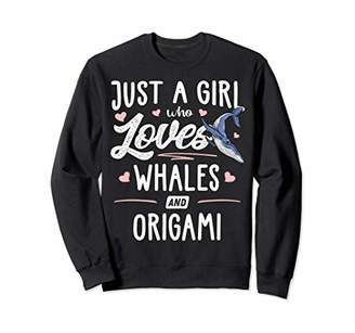 Just A Girl Who Loves Whales And Origami Gift Women Sweatshirt