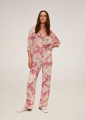 MANGO Floral print trousers