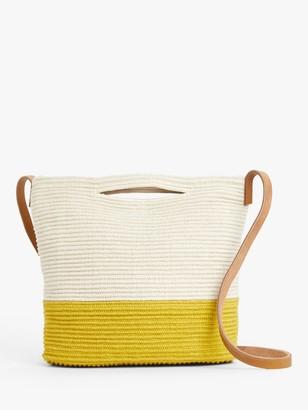 John Lewis & Partners Jute & Cotton Bucket Bag