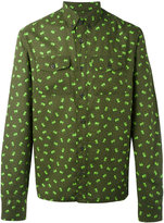 Prada elephant print button-down shirt