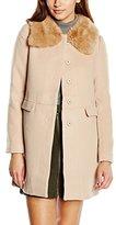 Louche Women's Rhonwen Swing with Faux Fur Collar Duffle Long Sleeve Jacket,Size