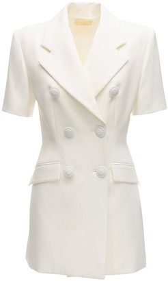 Sara Battaglia Crepe Jacket Mini Dress