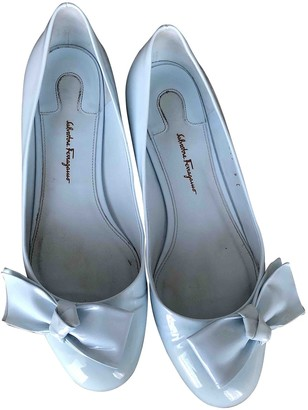 Salvatore Ferragamo White Leather Ballet flats
