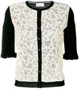 RED Valentino heart laced cardigan - women - Cotton/Polyamide/Virgin Wool - S