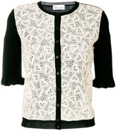 RED Valentino heart laced cardigan