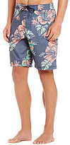 Roundtree & Yorke Big & Tall Faded Floral Board Shorts