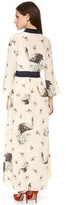 Suno Cinched Print Maxi Dress