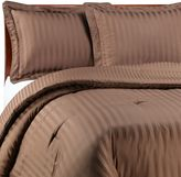 Wamsutta Mills Damask Stripe Twin Comforter Set in Chocolate