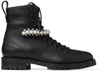 Jimmy Choo Cruz Embellished Leather Boots