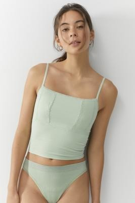 Urban Outfitters Phoebe Lace Trim Cami - Green S at