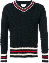 Thom Browne zigzag knit jumper