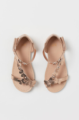 H&M Appliqued Sandals - Brown