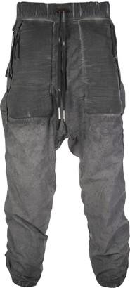 Boris Bidjan Saberi Faded Drop Crotch Relaxed Trousers