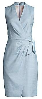 Rebecca Taylor Women's Wrap-Front Twill Dress