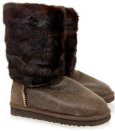 Mou Minky Brown Shaded Fur Boot