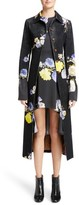Acne Studios Women's Okki Floral Print Bracelet Sleeve Coat