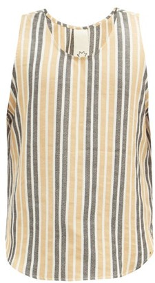 Marrakshi Life - Striped Cotton-blend Tank Top - Beige Multi