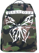 Valentino Garavani Valentino Rockstud camouflage backpack - men - Cotton/Leather/Polyester - One Size
