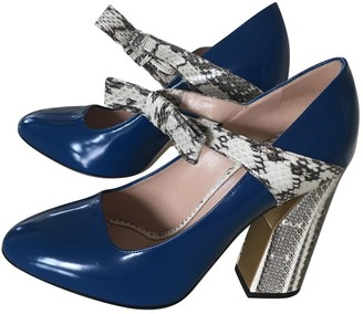 Gucci Blue Water snake Heels