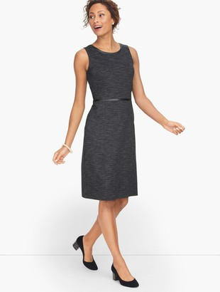 Talbots Italian Luxe Knit Herringbone Sheath Dress