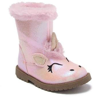 Harper Canyon Lil Unicorn Metallic Faux Fur Boot (Toddler)