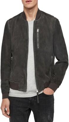 AllSaints Kemble Suede Bomber Jacket