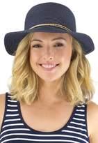 Jendi Braid Rope Band Cloche Hat Navy