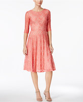 Sangria Lace Fit & Flare Dress