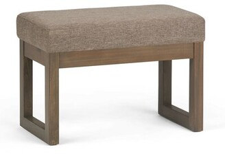 """Foundstoneâ""""¢ Corryn Upholstered Wood Bench Foundstonea Upholstery: Fawn Brown Linen"""