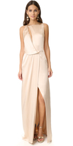 Halston Draped Cutout Gown