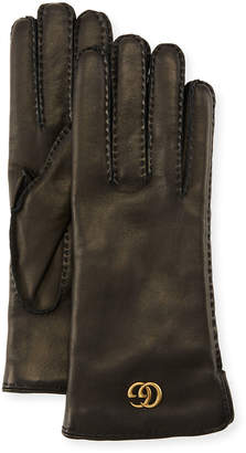 Gucci Leather Gloves w/ GG Hardware