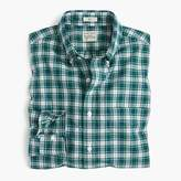 J.Crew Secret Wash shirt in green and white plaid